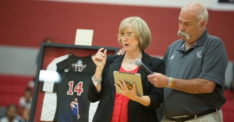 Varsity Volleyball Retires Jersey of Former Player, Sawyer Camillo