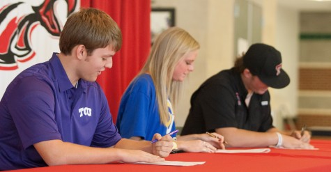 Student-Athletes Sign to TCU, ASU, and Texas Tech