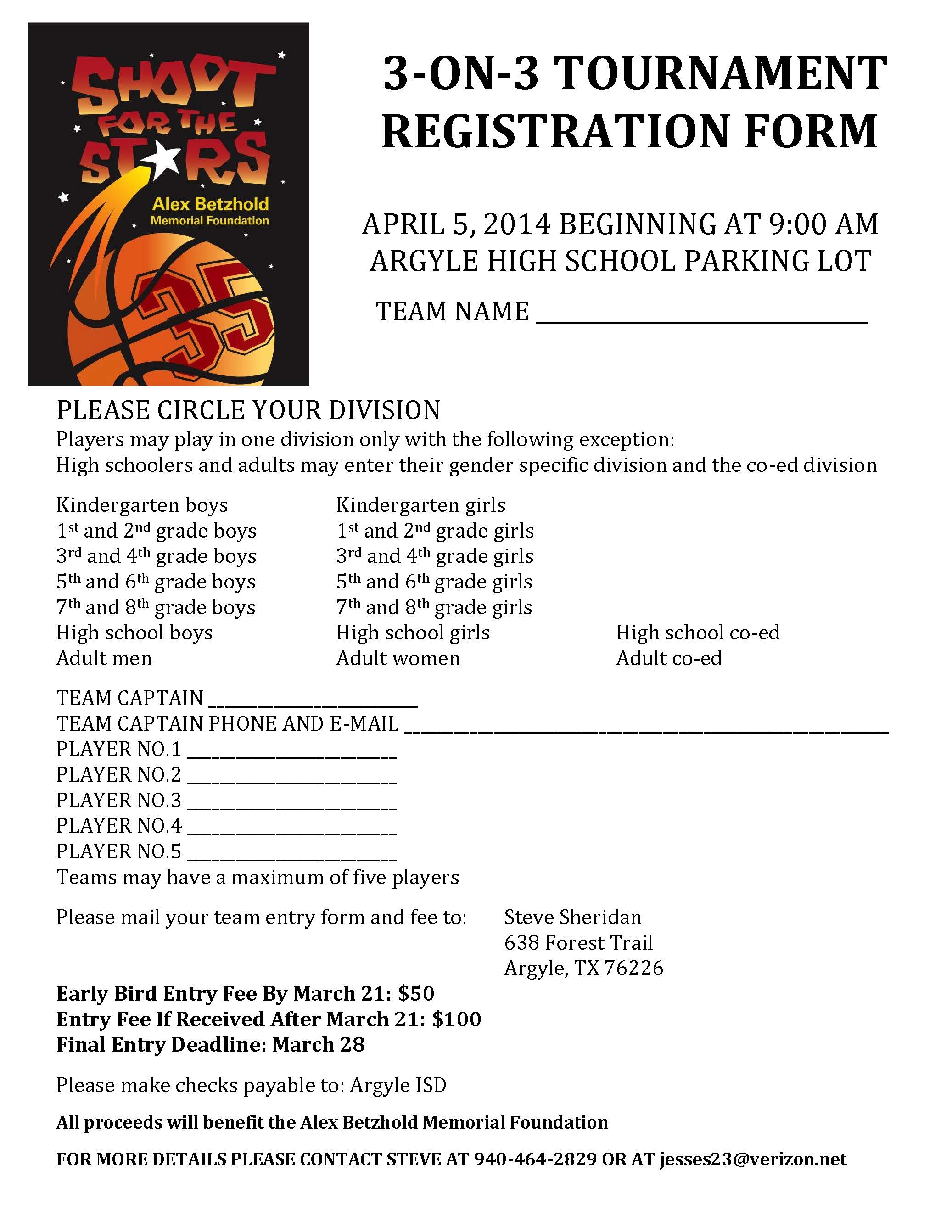 3 on 3 basketball tournament registration form template 28 3 on 3 basketball tournament registration form template the talon shoot for the 3 on sciox Gallery