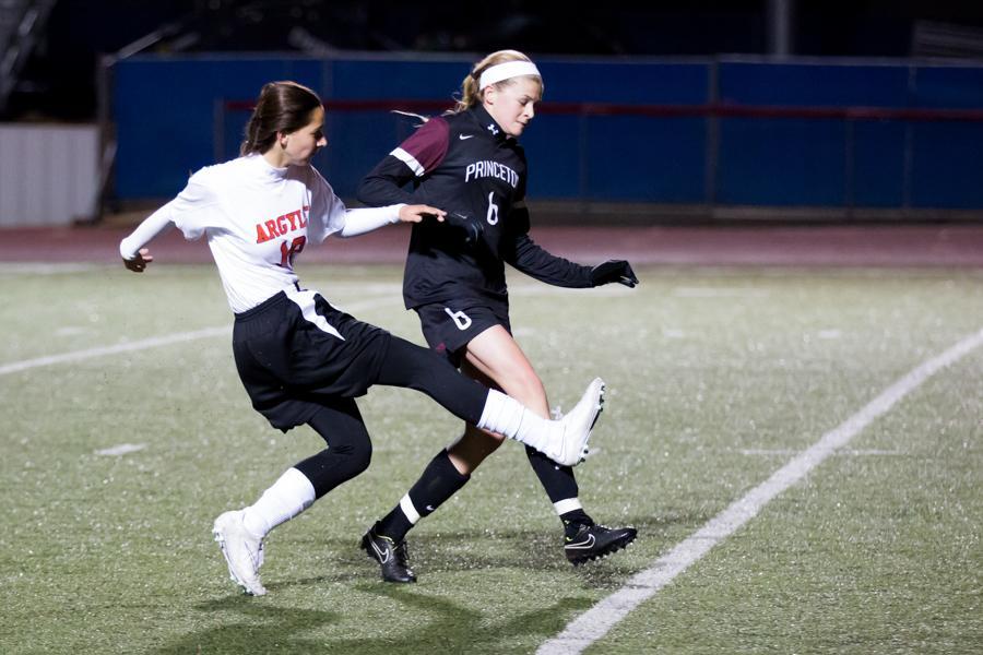 Girls Soccer vs. Princeton at Girls Soccer vs. Princeton (2-18-15) at Argyle High School on Feb. 17, 2015. (Photo by Caleb Miles / The Talon News)