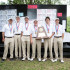 The varsity boys show off their awards after winning the UIL Golf State Championship, with a score of 612 at Onion Creek Golf Course on April 28, 2015. (Photo by Annabel Thorpe/ The Talon News)