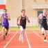 Zach Zembraski races down the track at the district meet at Aubrey High School on April 9, 2015. (Annabel Thorpe / The Talon News)