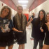 Seniors Eighmy Dobbins, Emma Malone, Heather Lindemann, and Micki Hirschhorn all pose for a picture in the hall today as they show off their Halloween costumes. (Micki Hirschhorn / The Talon News)