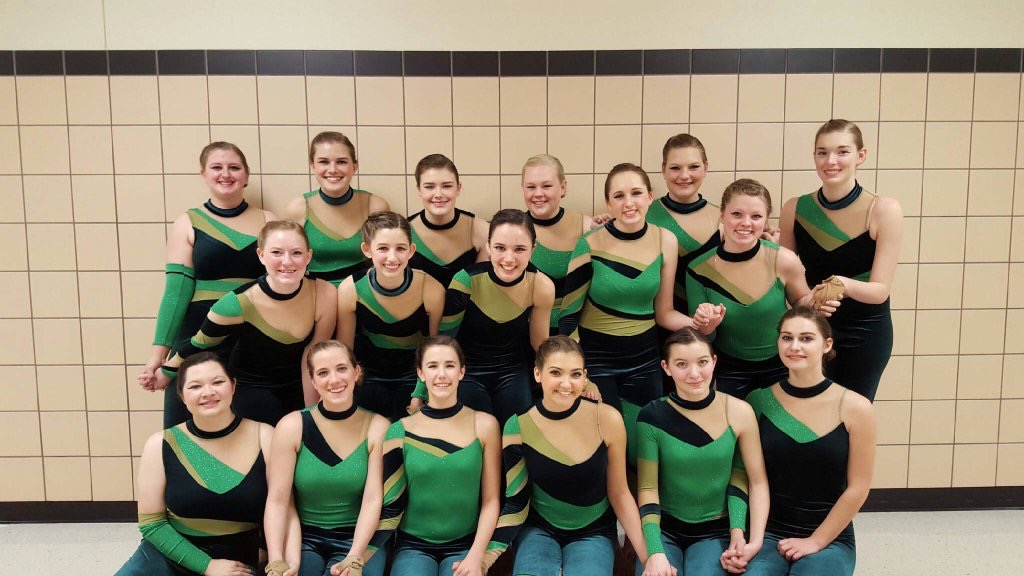 Winter Guard wins first place at the NTCA Winter Guard Championships at Thomas Coliseum on April 1, 2016. (Annabel Thorpe / The Talon News)