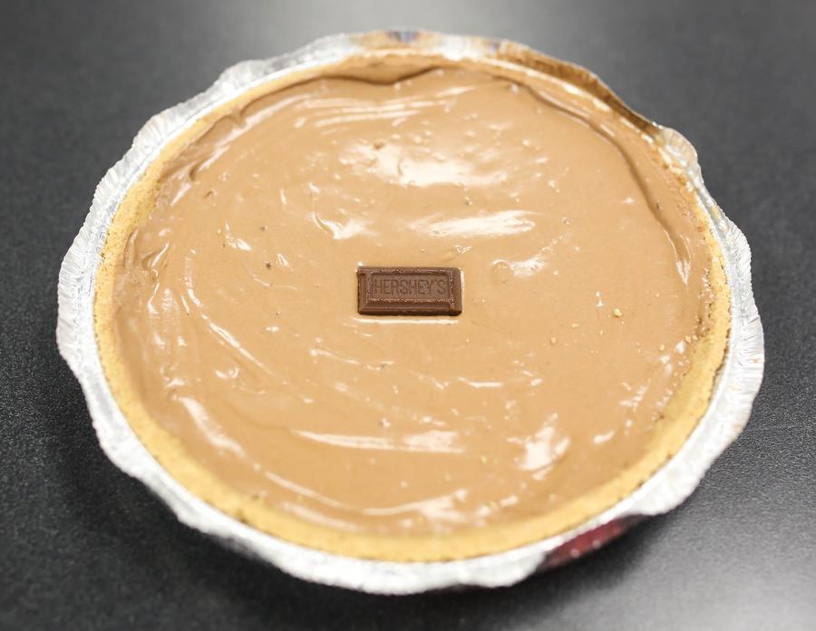 A hershey pie sits on a desk at Argyle High School on November 10, 2016 in Argyle, Texas. (Faith Stapleton/ The Talon News)