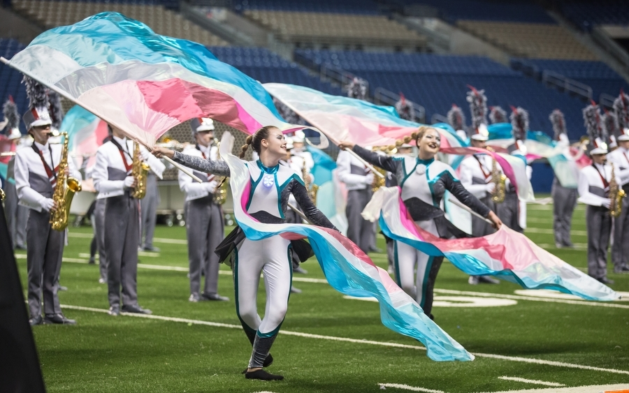 The+color+guard+performs+in+the+show+%27IGeneration%27+at+the+finals+of+the+UIL+State+Band+competition+at+the+Alamodome+in+San+Antonio%2C+TX.+%28GiGi+Robertson%2FThe+Talon+News%29