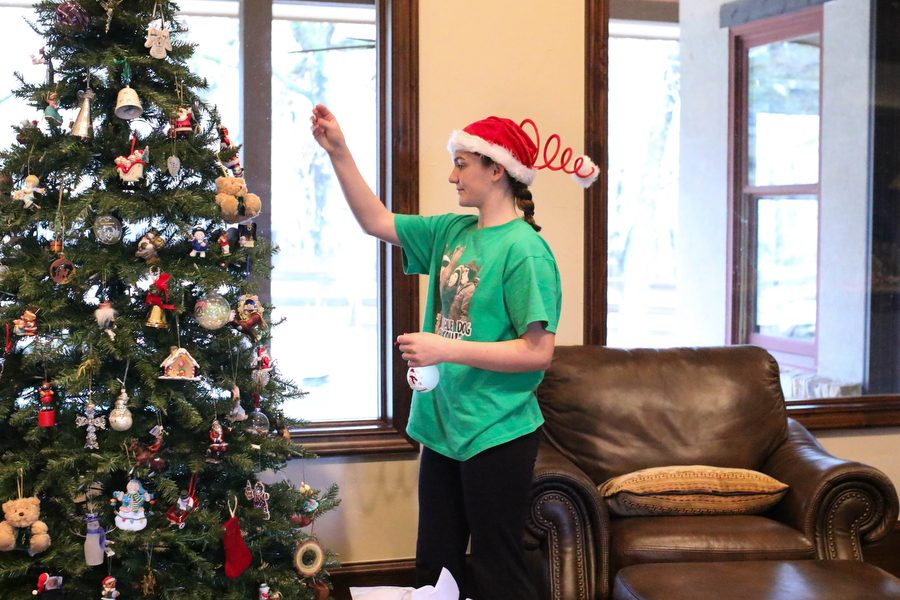 Sophomore+Tatum+Gregston+hangs+up+ornaments+on+her+Christmas+tree+on+Dec.4%2C+2016+in+Argyle%2C+Texas.+%28Faith+Stapleton%2F+The+Talon+News%29