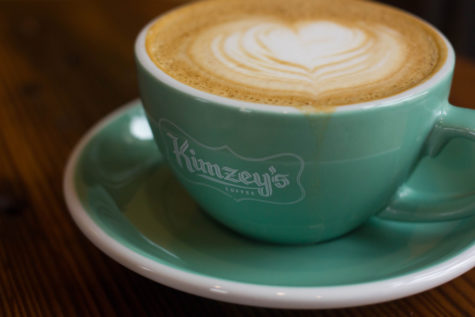 Kimzye's Coffee, the newest addition to Argyle, serves frothed cappuccinos on March 6, 2017 in Argyle, TX. (Kenzie Hindman/ The Talon News)