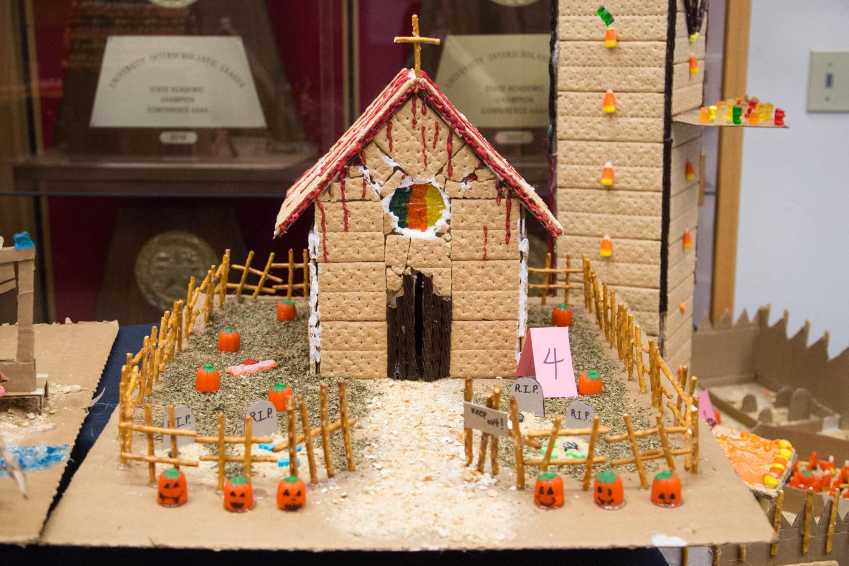Art students create 'spooky houses' for Halloween using mainly edible materials at Argyle High School in Argyle, Texas, on Oct. 27, 2017. (Faith Stapleton / The Talon News)