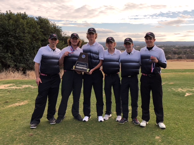 The+varsity+boy%27s+golf+team+wins+first+place+in+the+State+Golf+Preview+in+Horseshoe+Bay%2C+TX+on+Feb.+3.+%28Photo+by%3A+Brady+Bell%29