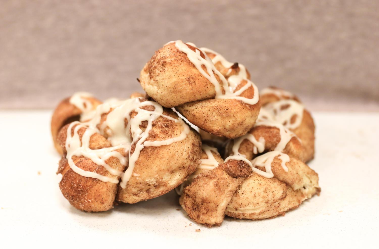 Cinnamon sugar knots are a great breakfast or dessert recipe. (Claire Burkett/The Talon News)