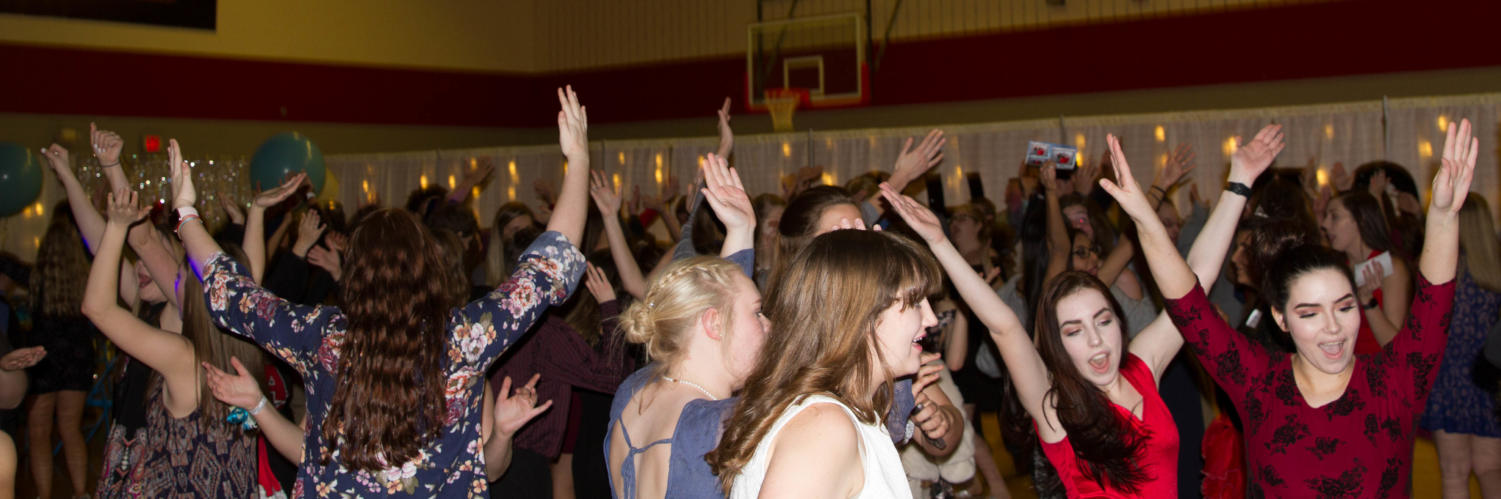 Students dance at Night to Shine at Argyle High School on Feb. 9, 2018 in Argyle, TX. (Lauren Landrum / The Talon News)