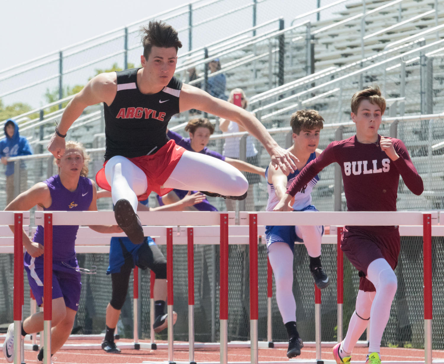AHS track competes at the district meet at Eagle Stadium in Argyle, TX on April 11, 2018. (Lauren Landrum/The Talon News)