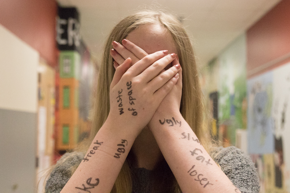 Bullying's impact isn't just on the surface . The effects run deep and can leave a lasting mark. One in four students are bullied in our nation. Photo taken in  Argyle, Texas, on Oct. 2, 2018. (Jaclyn Harris / The Talon News)