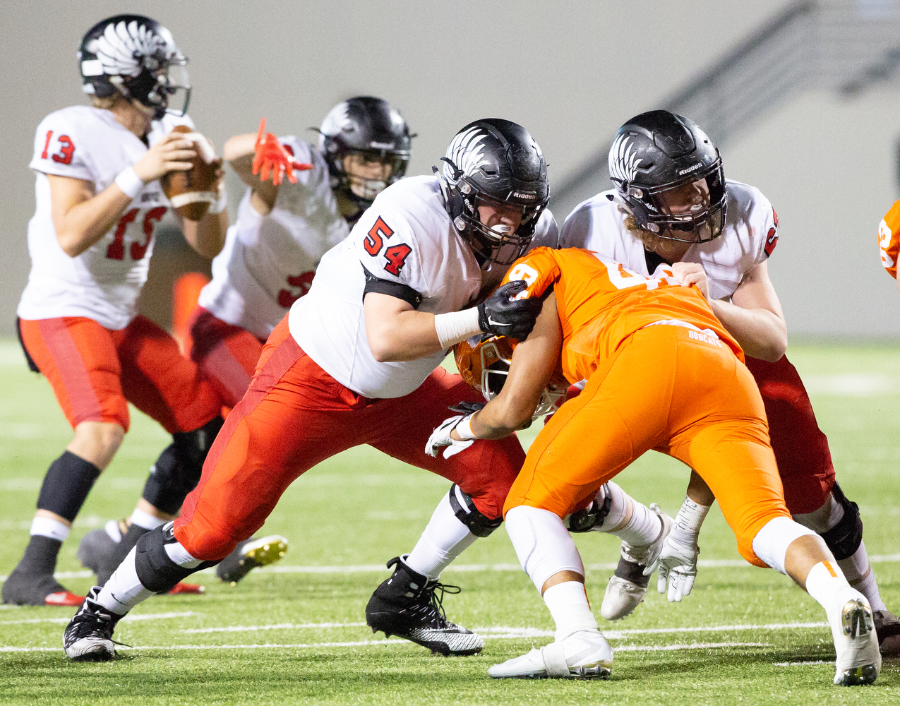 Eagles play Celina in Round 3 of the Playoffs at C.H. Collins in Denton, Texas, on November 23, 2018. (GiGi Robertson / The Talon News)