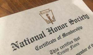The National Honor Society accepts too many students on May 18, 2019. (Trinity Flaten / The Talon News)