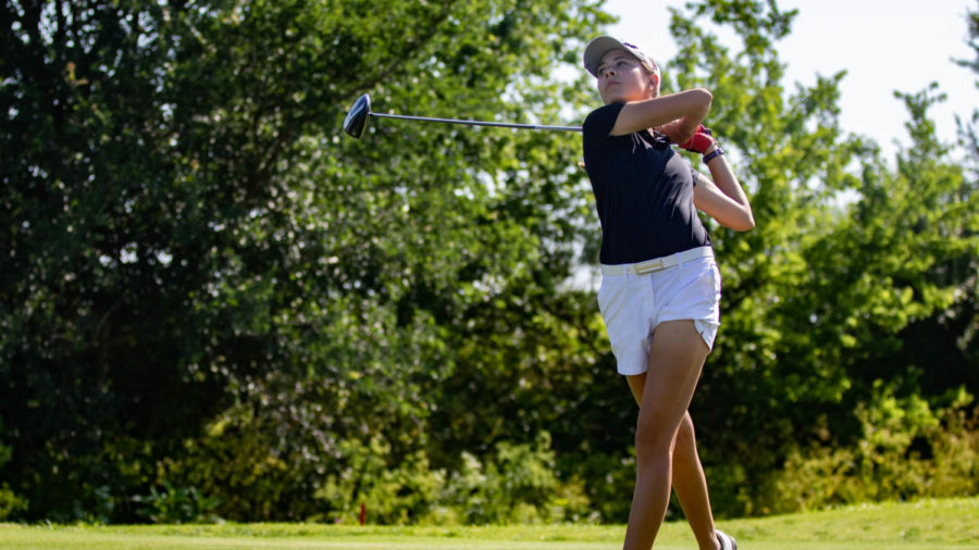 The+Lady+Eagles+Golf+team+competes+in+the+UIL+4A+State+Championship+tournament+on+May+14%2C+2019.+%28Campbell+Wilmot%2F+The+Talon+News%29