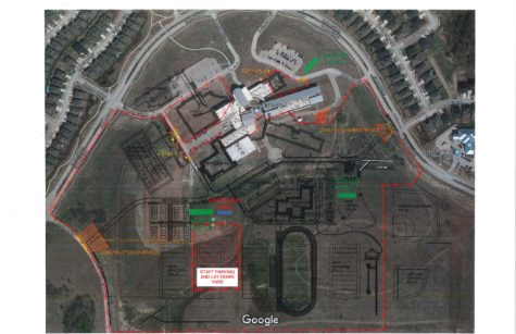 The plans for the middle school construction. (Photo provided by: Scott Gibson)