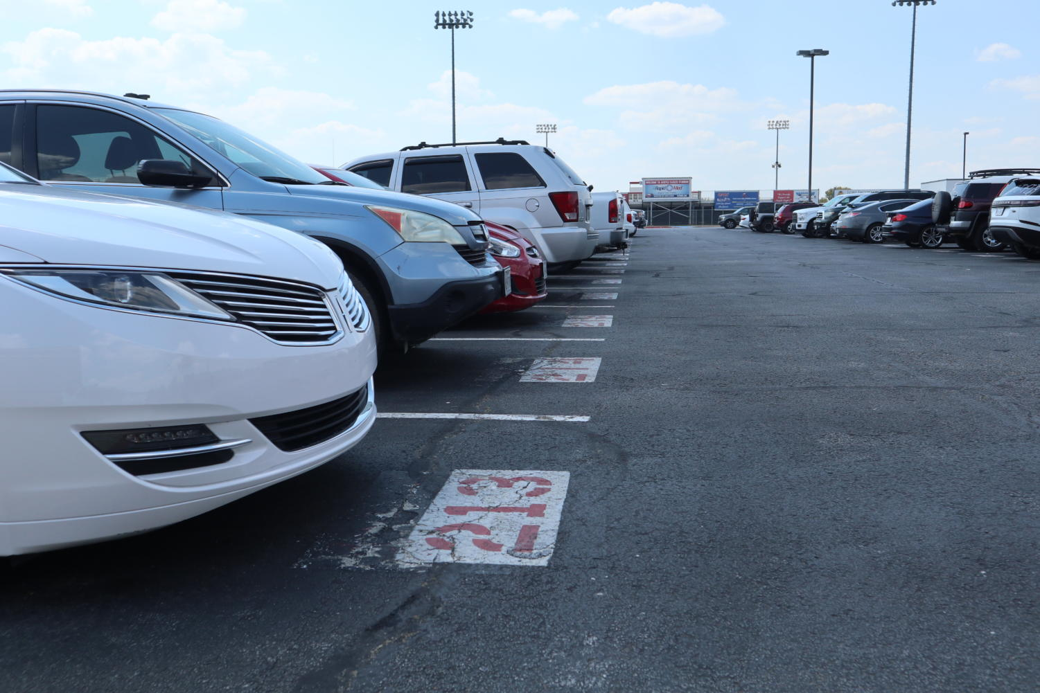 With parking being randomly assigned, many students have voiced concerns and disapproval. (Trinity Flaten / The Talon News)