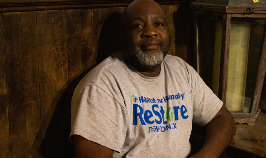 Kevin Sample spent eight years in the Navy before he became homeless. (Jaclyn Harris / The Talon News)