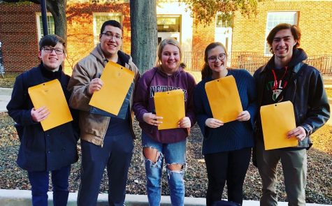 Five students advanced to the all-state choir and will be attending the all-state clinic Feb. 12 to 15. (Photo courtesy of Will Griswold)
