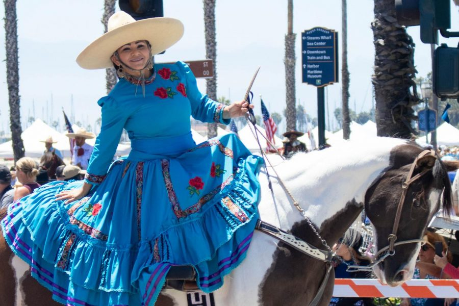 Residents of Santa Barbara celebrate the history of the town at the annual Fiesta Historical Parade on Aug. 2, 2019. (Jaclyn Harris | The Talon News)