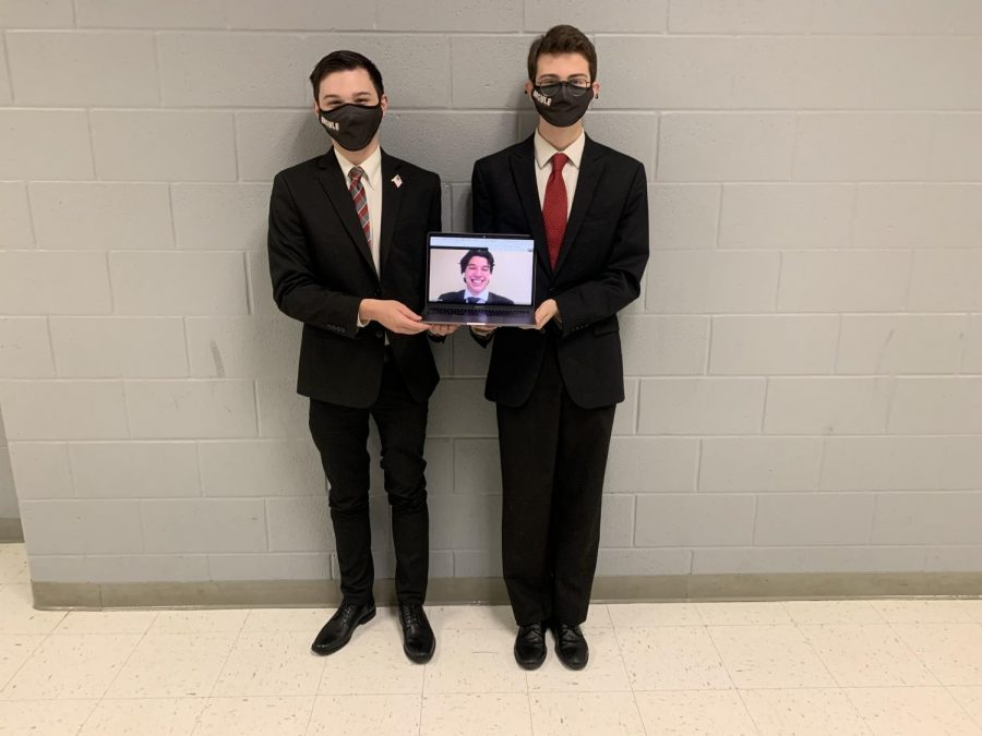 The Debate team competed in a virtual contest on Nov. 9, 2020 at Argyle High School. (Photo Courtesy AHS Debate)