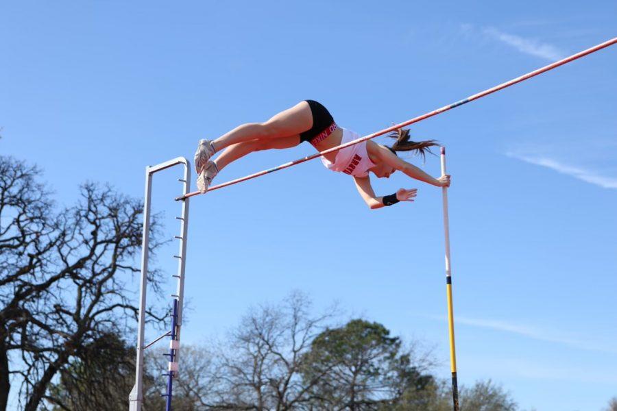 Senior Regan Ruffner has competed in pole vaulting since her freshman year (Photo Courtesy Regan Ruffner).