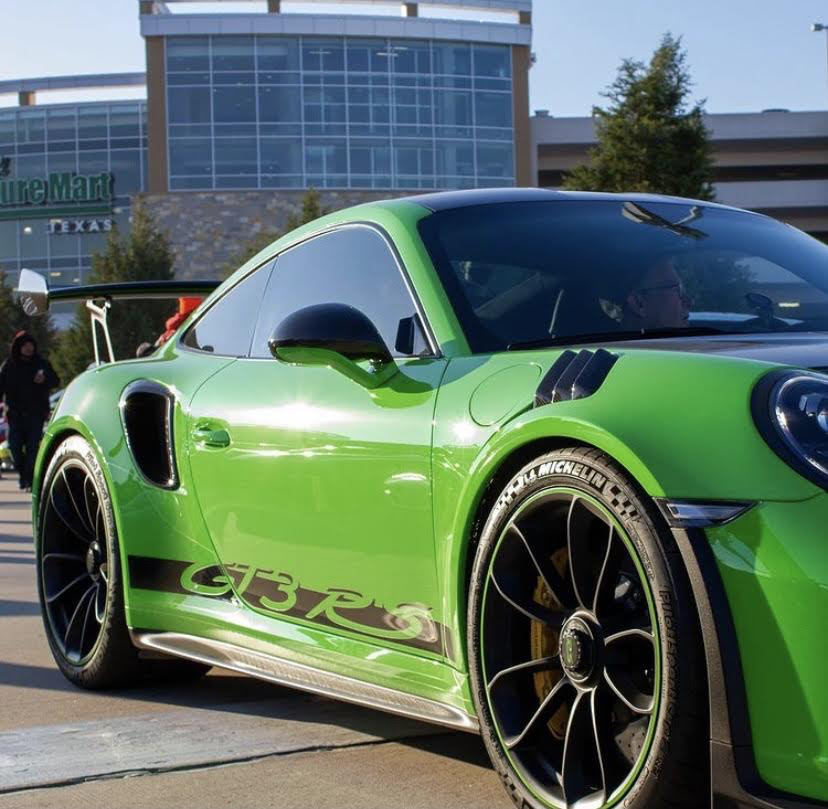 A sweet looking Porsche 911 GT3 RS making its way around the Dallas Fueled Up Car Meet. (Jacob Lormand I The Talon News)