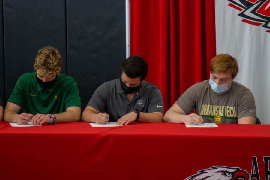 Seniors+signed+their+National+Letter+of+Intent+on+Feb.+3+at+Argyle+High+School+%28Josh+Fritz+%2F+The+Talon+News%29.