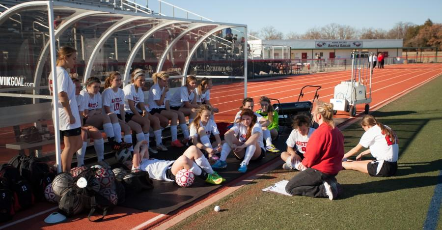 Girls Soccer Kicking it in Gear for District