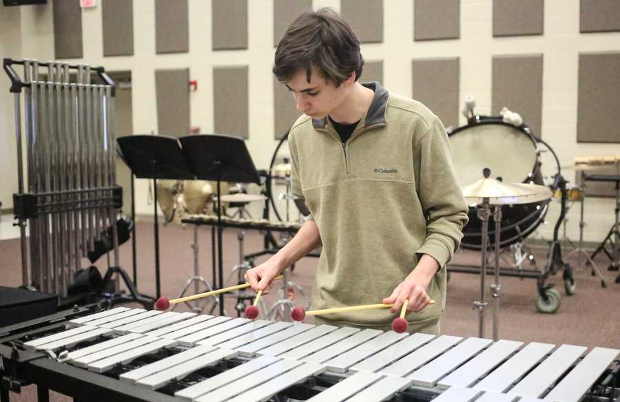 Producing exquisite music, sophomore T Davis contributes to the sound of Argyle at Argyle High School on Jan. 17, 2017 in Argyle, Texas. (GiGi Robertson/The Talon News)