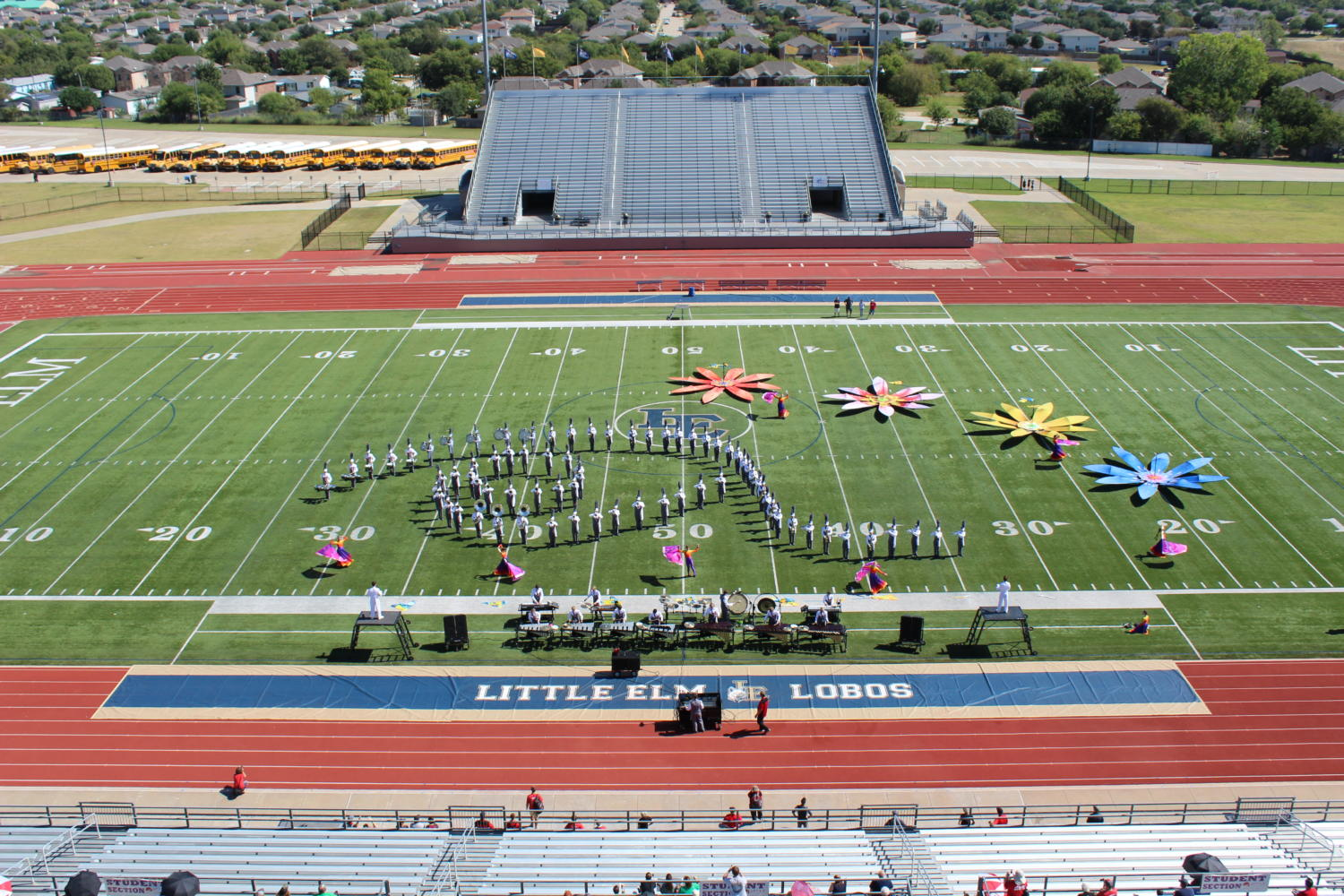 The Argyle High School Marching Band performs in the Little Elm Classic on the Lake on Oct. 7. (Photo by: Britt Flaten)