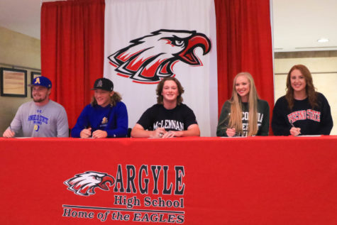 Five Athletes Sign Letters of Intent