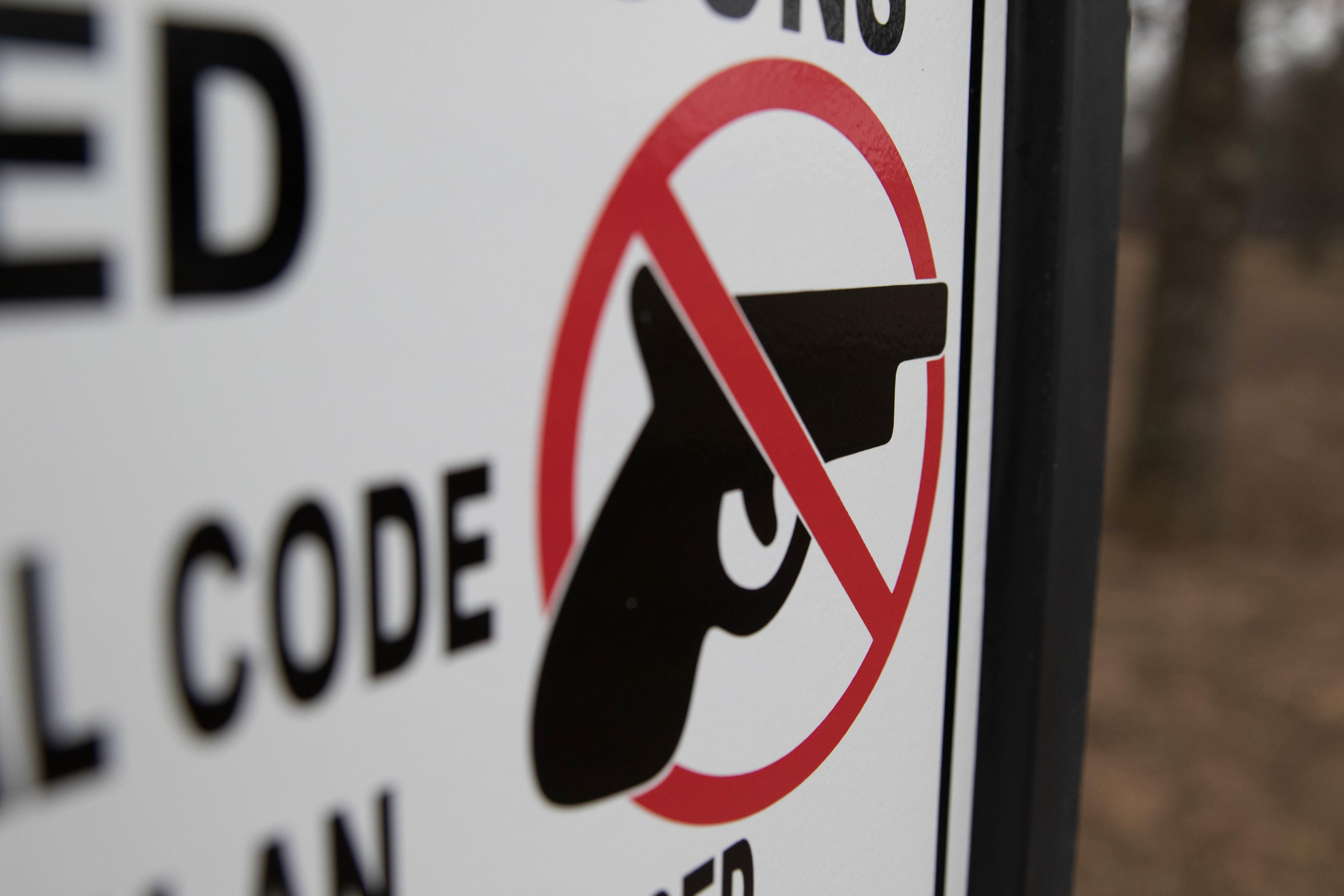 Guns are not permitted to be carried on campus by unlicensed persons on Feb. 27 at Argyle High School. (Sarah Crowder/The Talon News)
