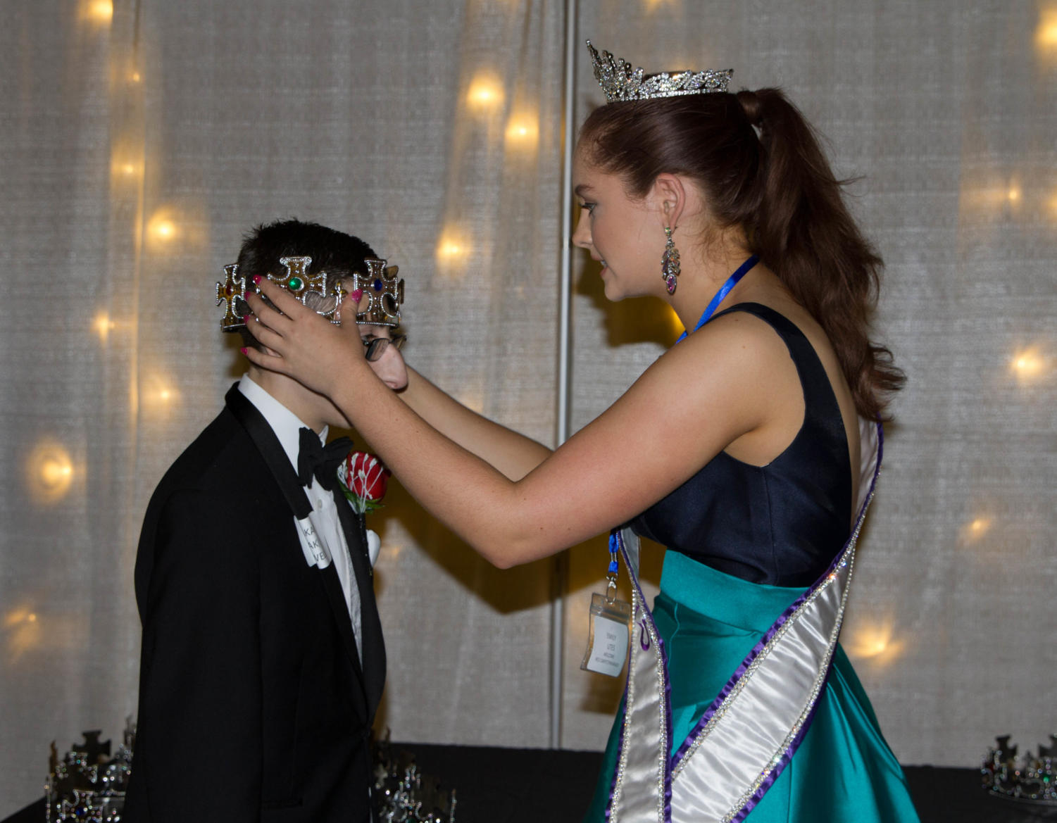 Miss Teen Texas crowns every student at Night to Shine a king or queen at Argyle High School on Feb. 9, 2018 in Argyle, TX. (Lauren Landrum / The Talon News)