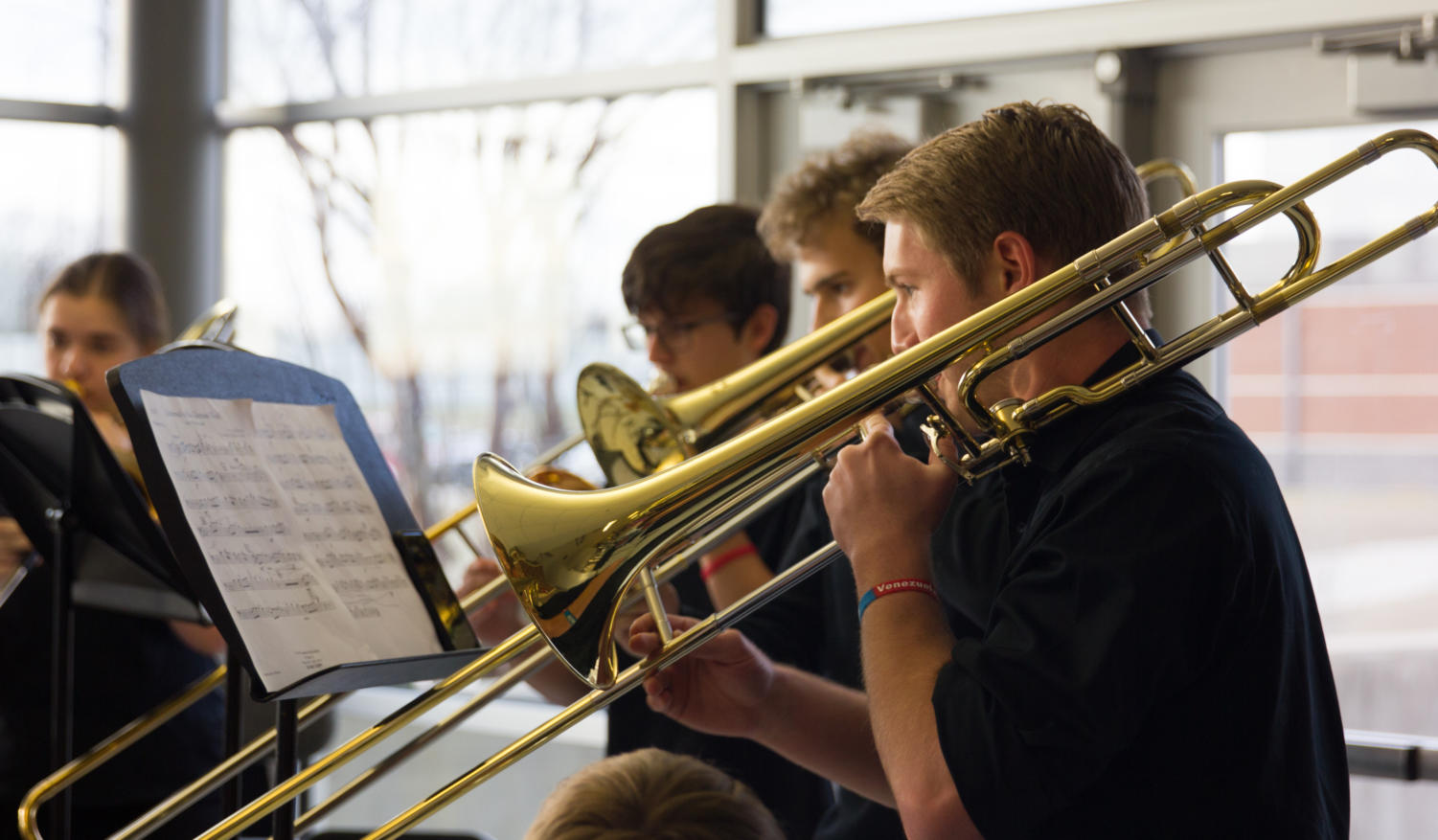 Band students perform at Shine at Argyle High School in Argyle, TX on March 5, 2018. (Katie Ray | The Talon News)
