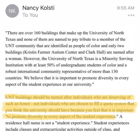 UNT Petition Stirs Controversy