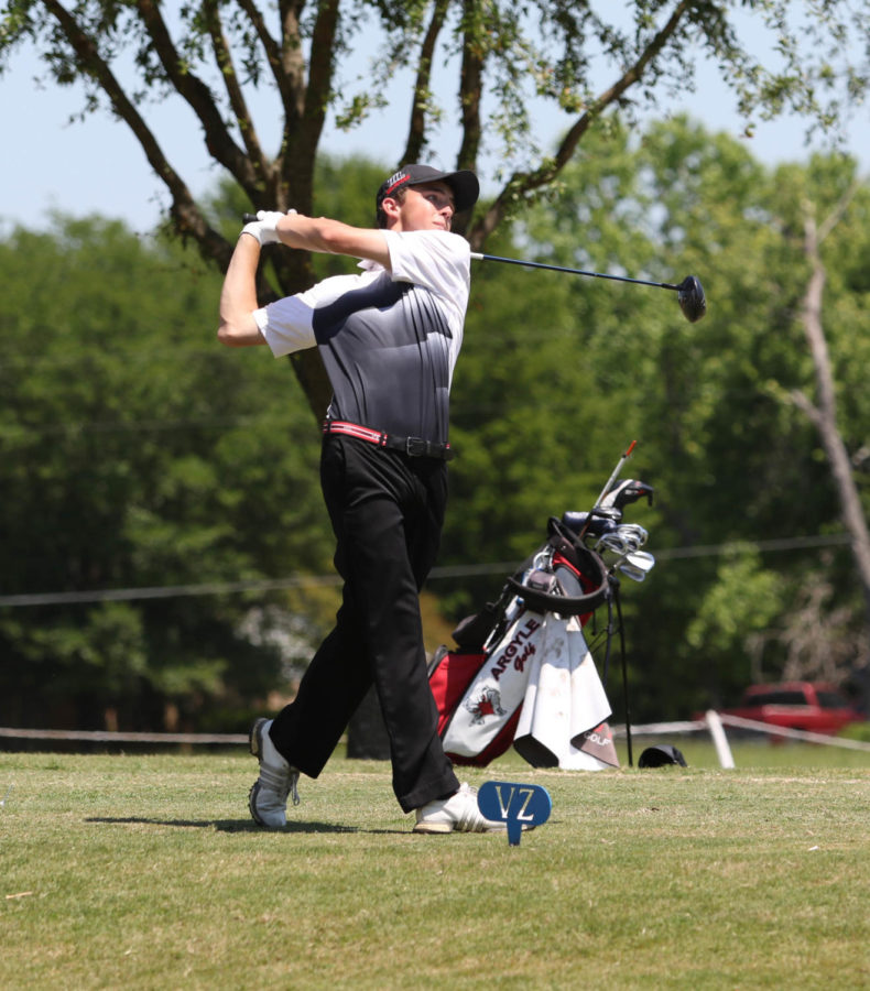 The Eagles compete at the Regional Golf tournament Golf at Van Zandt Country Club in Canton, Texas , on April 24, 2018. (Jake Pool  / The Talon News)