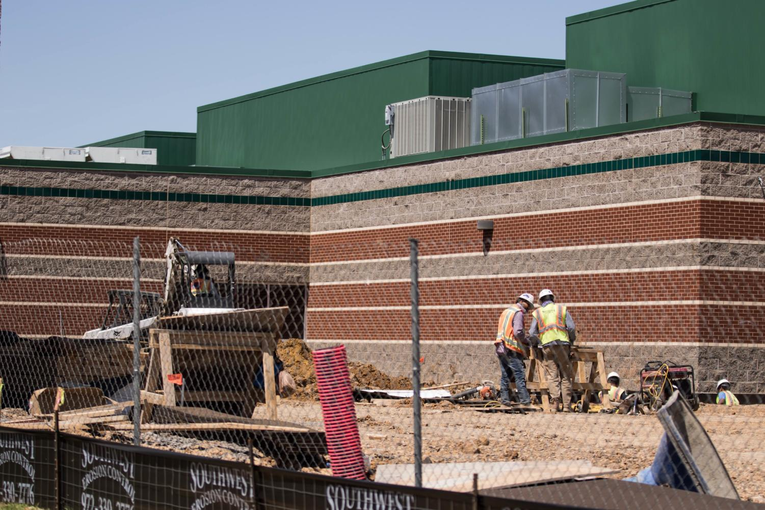 Construction is under way at Argyle High School in Argyle, TX on April 18, 2018. (Katy McBee  / The Talon News)