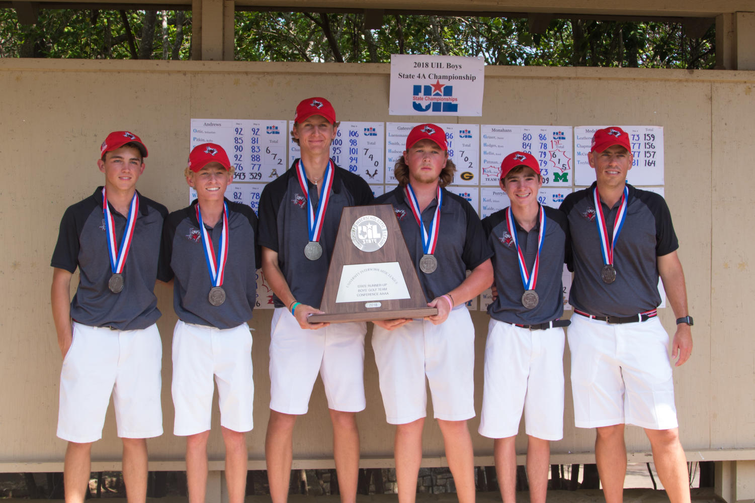 The Eagles compete on day two of the UIL State Tournament on May 15, 2018. UIL State Golf Day Two at Horseshoe Bay in Marble Falls, Texas, on May 15, 2018. (Hannah Wood) (Campbell Wilmot/ The Talon News)