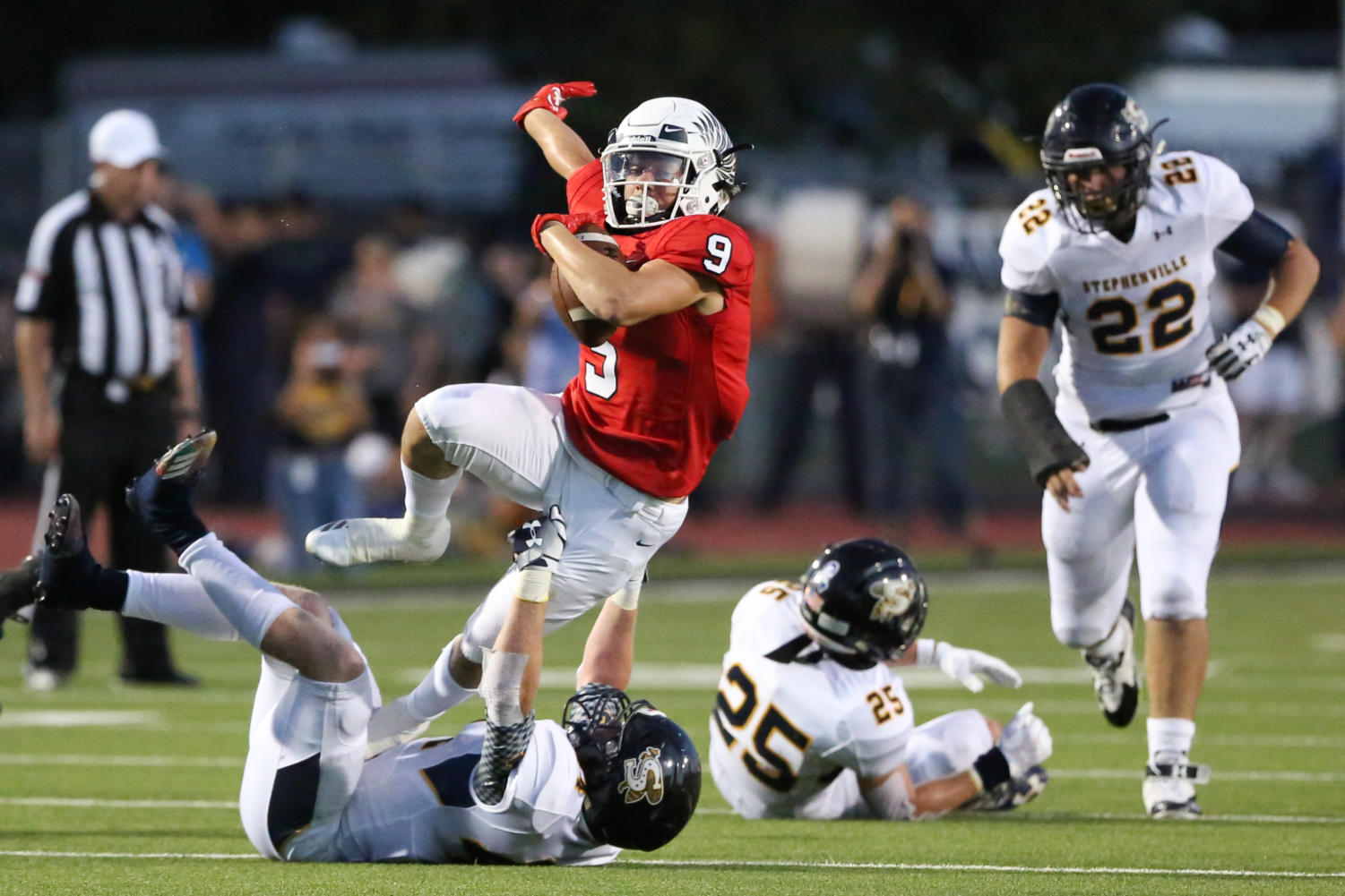 Eagles play against Stephenville for the first game of the season on August 31st 2018. (GiGi Robertson / The Talon News)