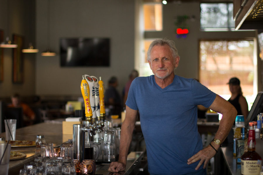 Owner, Dennis Dial opened his first restaurant in 1991.  He is featured here in the Cafe Gecko in Plano, Texas, on Sept. 29, 2018. (Sloan Dial / The Talon News)