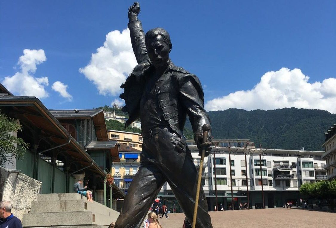 In memory of Freddie Mercury, a statue stands in Montreux, Switzerland. (Trinity Flaten / The Talon News)