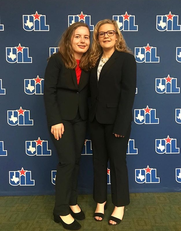 Junior Savanna Lessley and Senior Morgan Stone competed at the State Congressional Debate Competition on Jan. 8 and 9. (Campbell Wilmot / The Talon News)