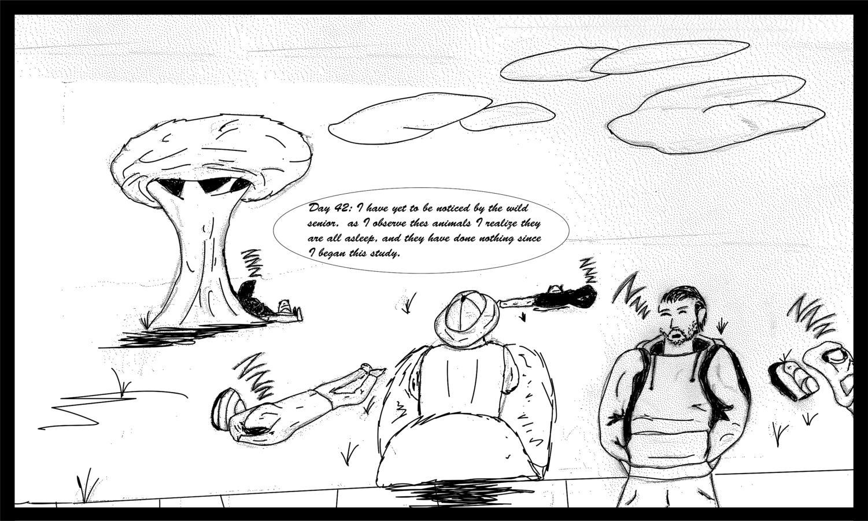 Cartoon art of the