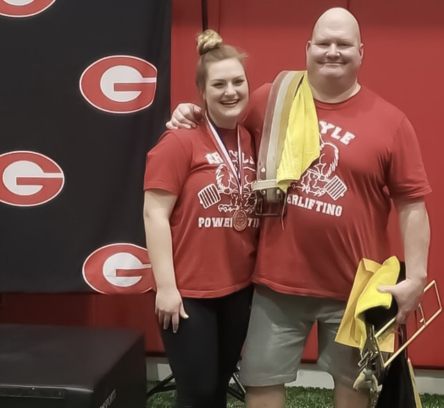 Senior power lifter Madison Mills after placing in the Region 6 Division 2 powerlifting meet on February 26, 2019. (Photo by: Kirsten Richardson)