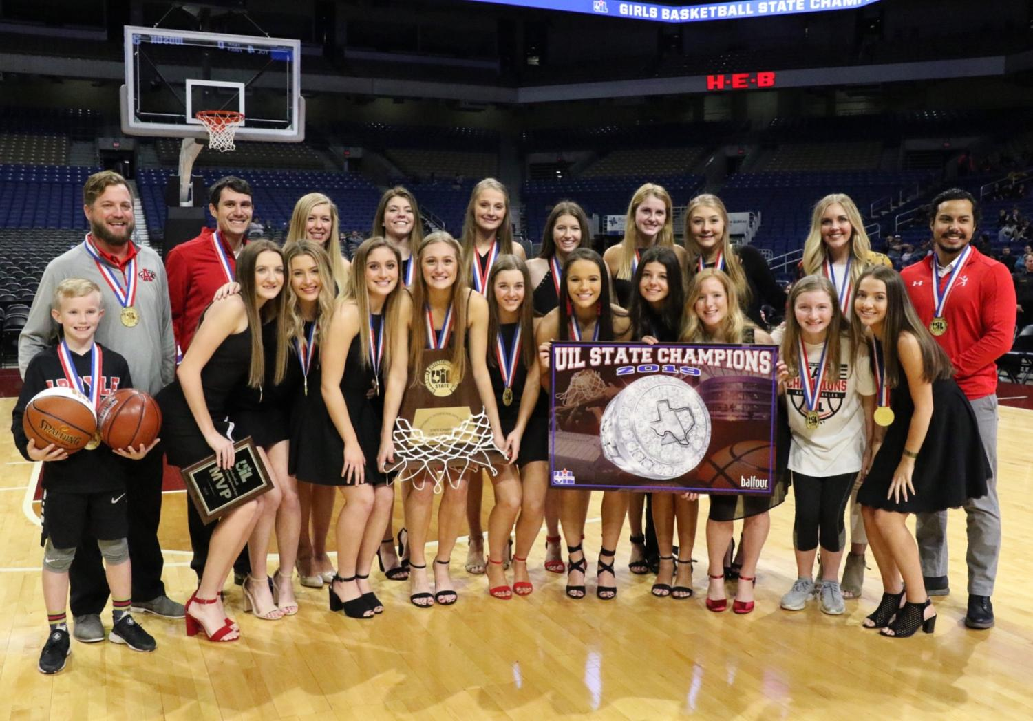 The Lady Eagles win their fifth straight UIL Conference 4A State title.