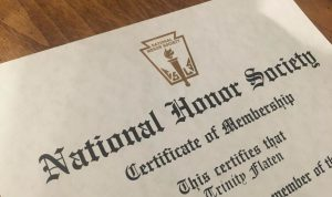 The National Honor Society accepts too many students on May 18, 2019. (Trinity Flaten / The Talon News)