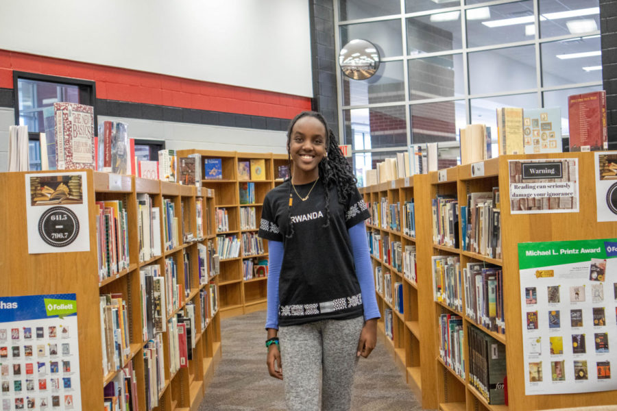 Sophomore Kim Karera is from Rwanda and moved to Texas in order to have more opportunities and a better education.